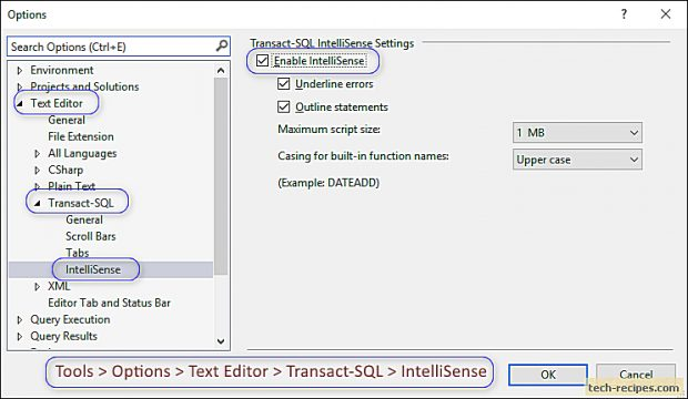 How To Enable IntelliSense In SQL Server