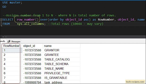 Pagination In SQL Server-ROW_NUMBER with CTE