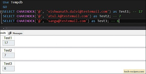 CHARINDEX - SQL Server