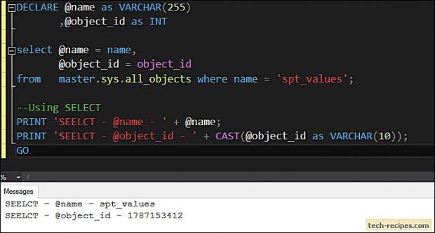 SELECT vs SET - SQL Server_1