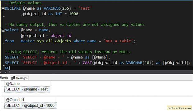 SELECT vs SET - SQL Server_3