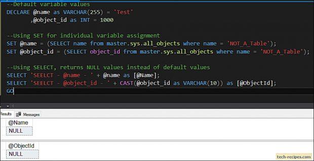 SELECT vs SET - SQL Server_4