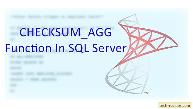 How To Use CHECKSUM_AGG Function In SQL Server