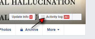 Activity Log Main Facebook Timeline