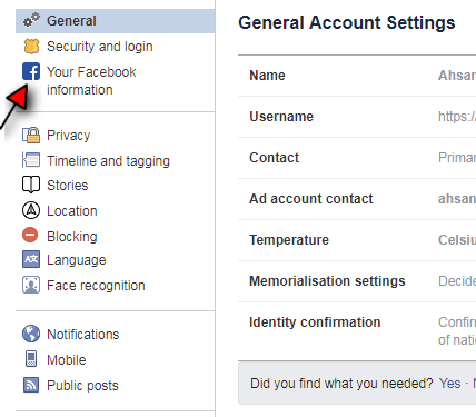 How to Deactivate your Facebook Account step 4