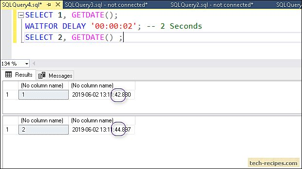 WAITFOR SQL Server