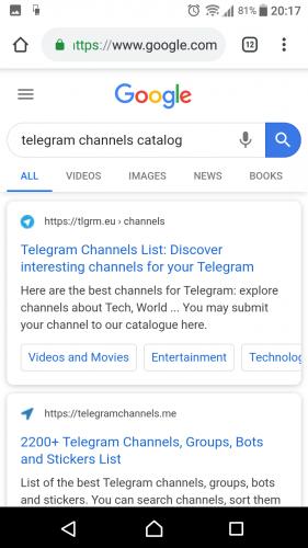 Telegram Channel Catalog