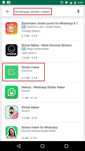 how to create whatsapp stickers step 2