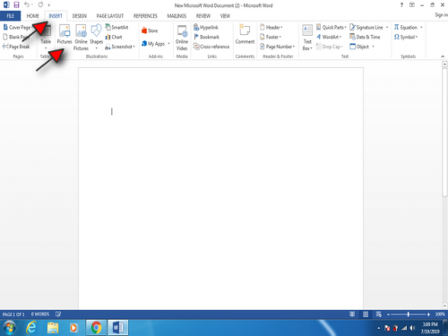 wrapping your text in word step 2