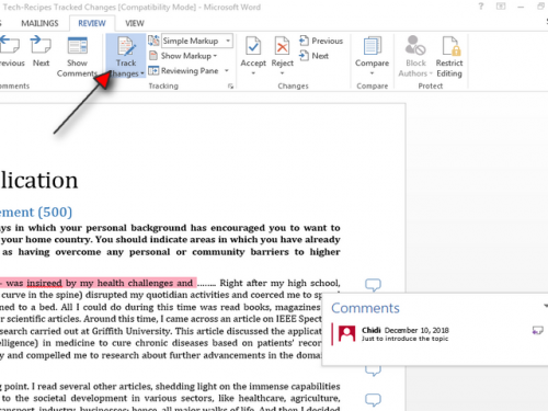 how to print your word documents without comments step 3