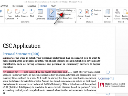 how to print your word documents without comments step 4
