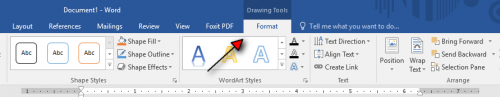 how to arch your text in word tutorial step 5