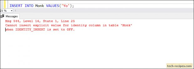 How To Use SET IDENTITY_INSERT Statement In SQL Server