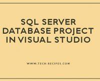 SQL Server Database Project In Visual Studio_7