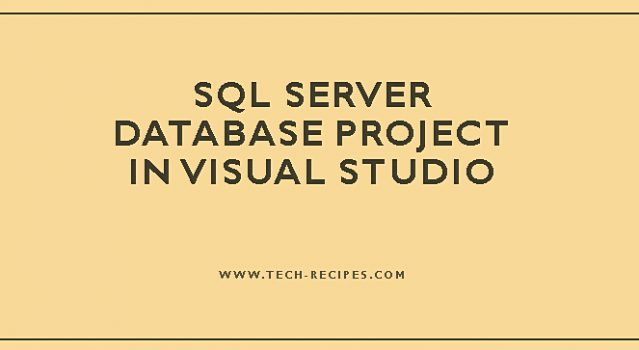 SQL Server Database Project In Visual Studio_7