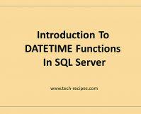 DateTime Functions In SQL Server_FII