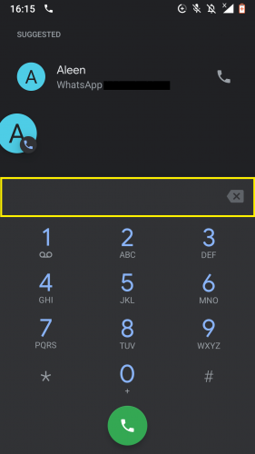 Dialing number of second caller while making a 3-way call on Android.