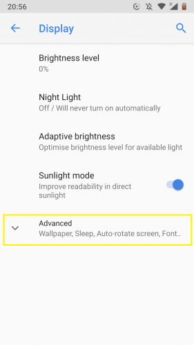 Accessing dark theme option on Android Nougat