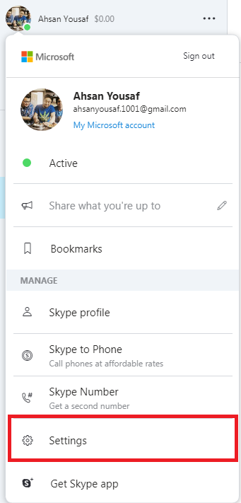 how to delete your skype account step 3