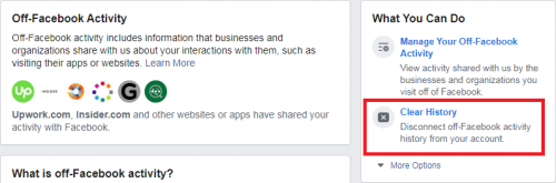 Clearing OFF-FB Activity History