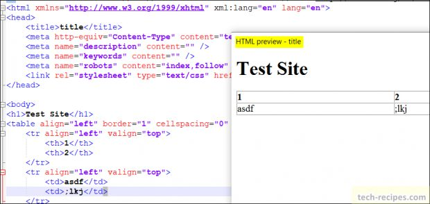 Notepad++ Plugins - HTML Preview