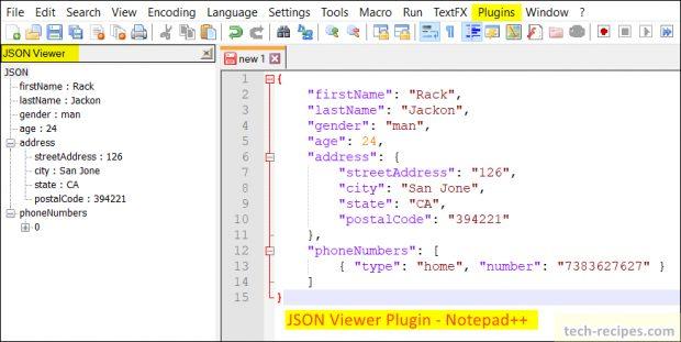 Notepad++ Plugins - JSON Viewer