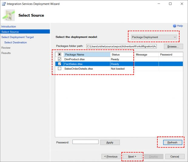 Deploy SSIS Packages & ISPAC File Using SQL Server