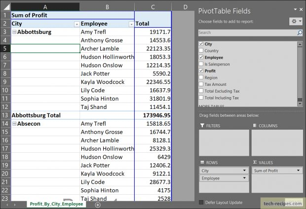 Import SQL Server Data To Excel Pivot Table_1
