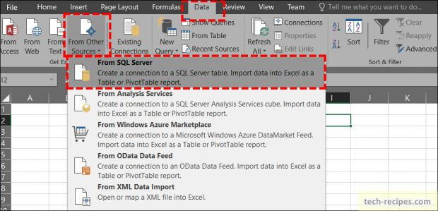 Import SQL Server Data To Excel Pivot Table