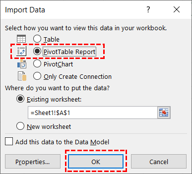 Import SQL Server Data To Excel Pivot Table_6