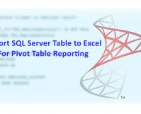 Import SQL Server Table to Excel For Pivot Table Reporting