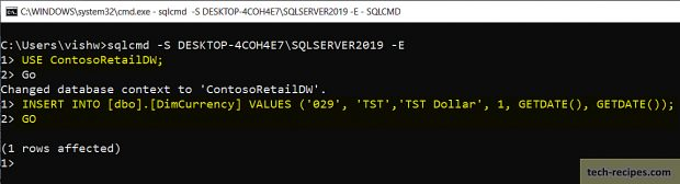Connect to SQL Server Database Using SQLCMD Utility