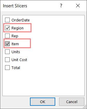 Insert Slicers Microsoft Excel_1