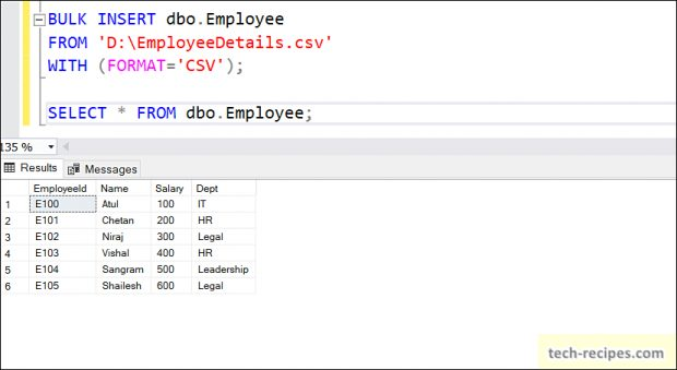 BULK INSERT SQL Server Import Data_1