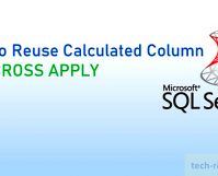 Reuse Calculated Column CROSS APPLY