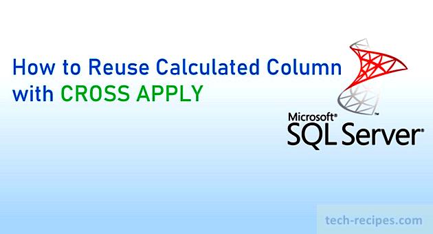 Reuse Calculated Column CROSS APPLY