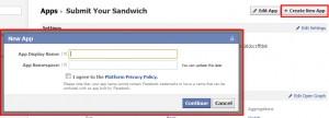 Facebook Create New App
