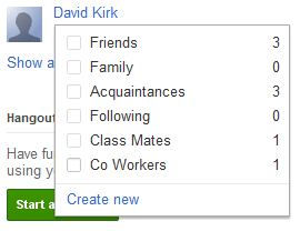 Google+ Custom Circles
