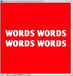 Type your words