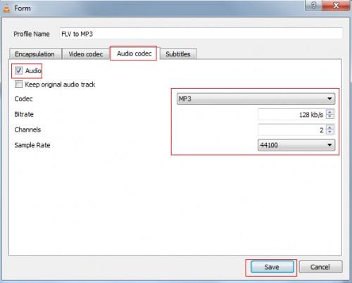 FLV Media Player Audio