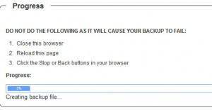 WB Backup Progress