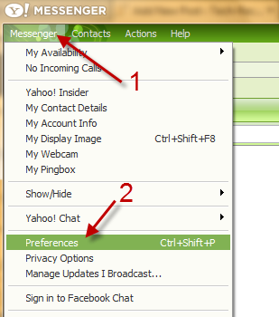 Yahoo Messenger: Prevent changing status when listening to Yahoo Music