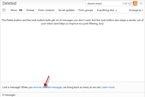 how to delete messages in hotmail