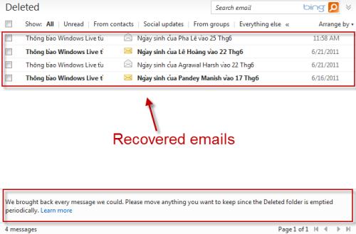 how to permanently delete hotmail emails