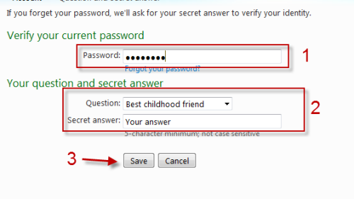 How To Change Security Question on Hotmail