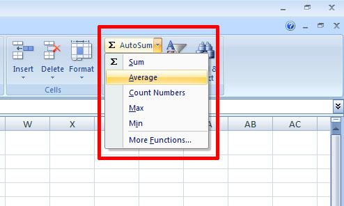 autosum average
