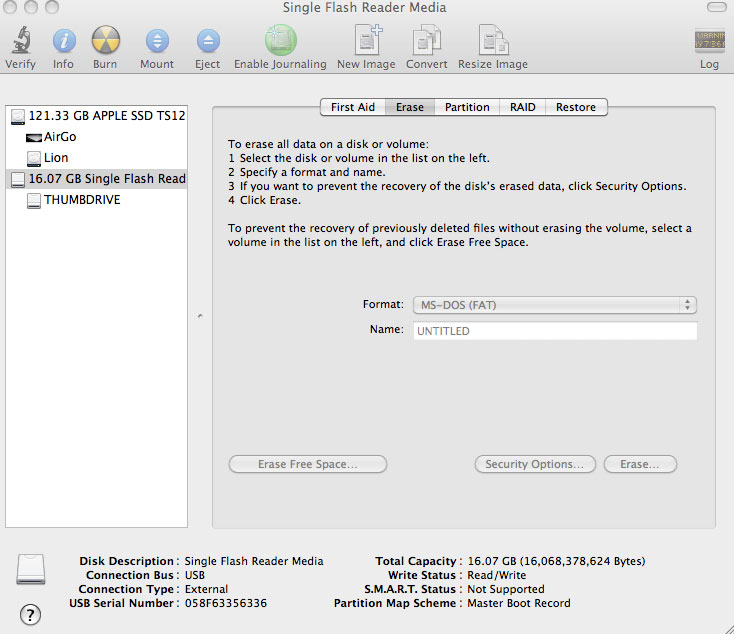 Convert OS X Lion DMG Installer to a Bootable USB Thumb Drive