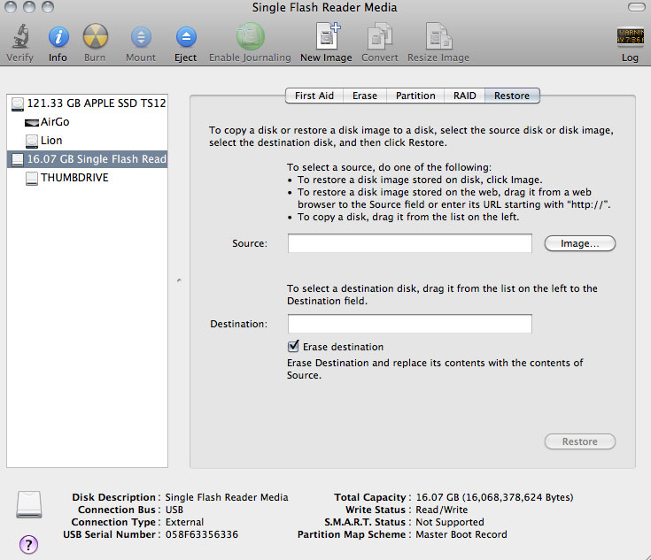 os x snow leopard dmg to usb