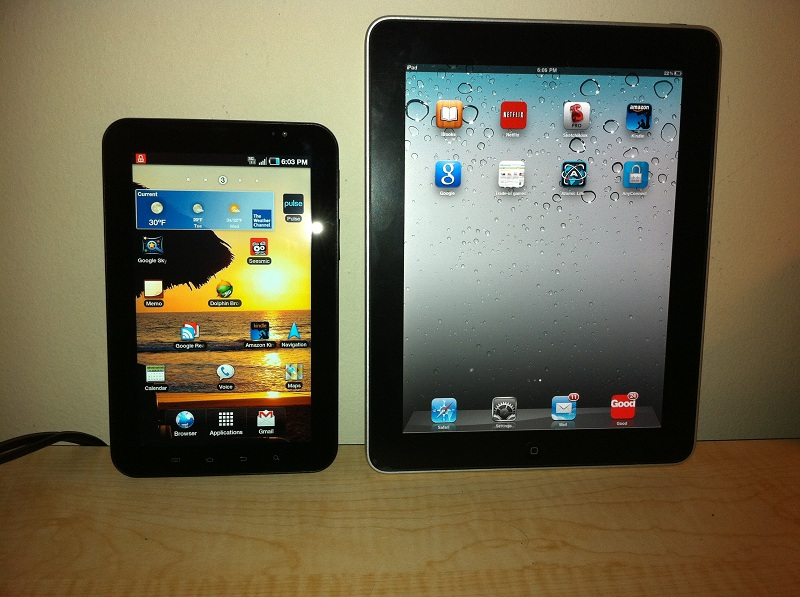 samsung galaxy tab versus apple ipad A closer look at how samsung and apple's how samsung's new galaxy one of the most noticeable differences between samsung's tab s3 and the ipad pro is.