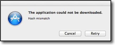 hash mismatch error